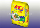 Multi Color BOPP Laminated Woven Sacks , Waterproof Polypropylene Rice Bags
