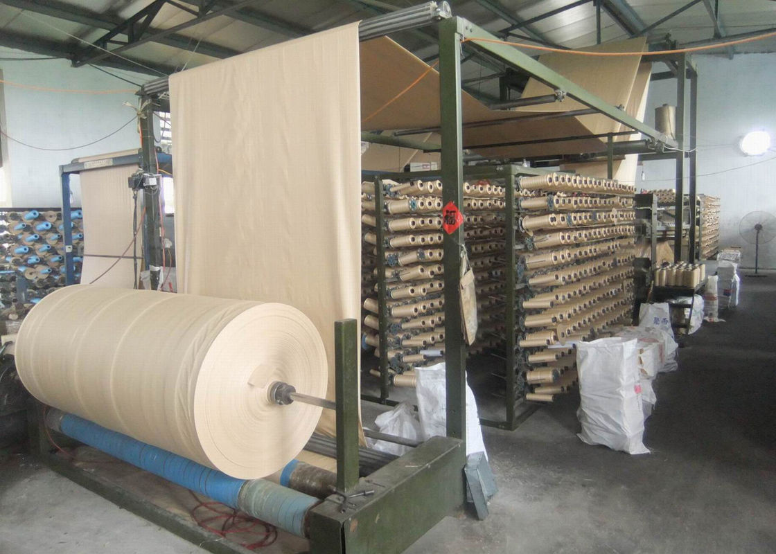PE Laminated / BOPP Film PP Woven Fabric Roll With Custom Size Weight
