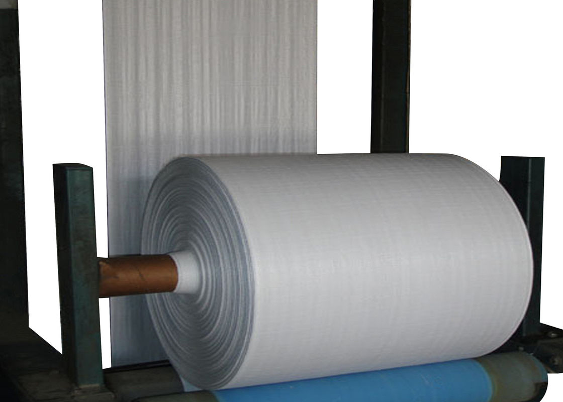 Eco Friendly Pp Fabric Roll Cloth , Customized Woven Polypropylene Tube Roll