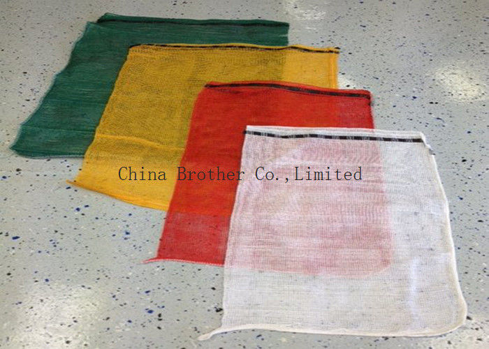PP Woven Industrial Mesh Bags Recyclable Red / Orange Color 30kg 40kg