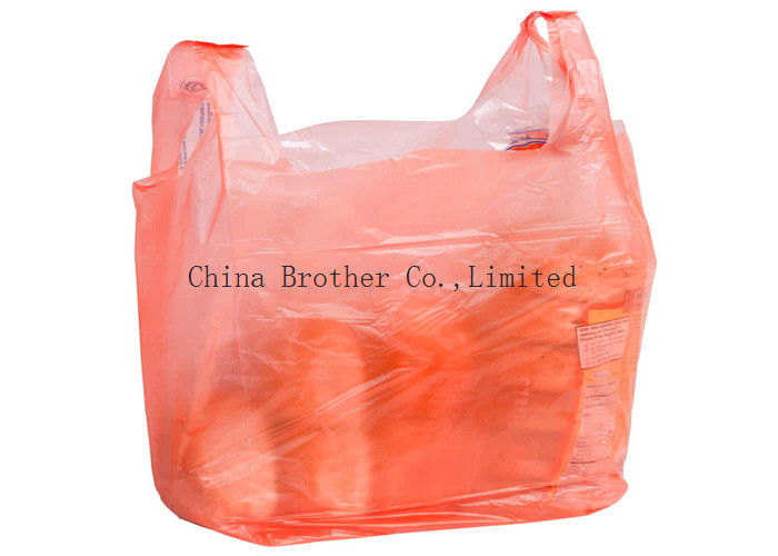 Heavy Duty Custom Printed Plastic Shopping Bags With Handles For Clothing / Garbage