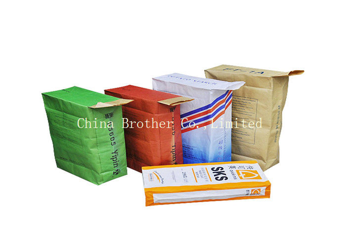 Plastic Valve Sacks For Chemicals , Laminated Block Bottom Valve Bag