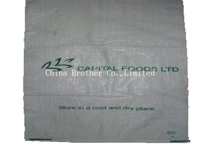 Customized Film Coated PP Woven Sack Bags 10KG / 25KG For Flour Packaging